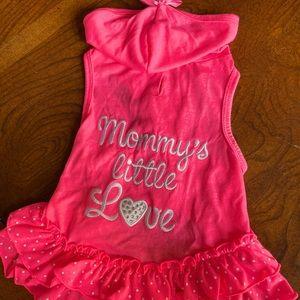 Dog pink dress, size M